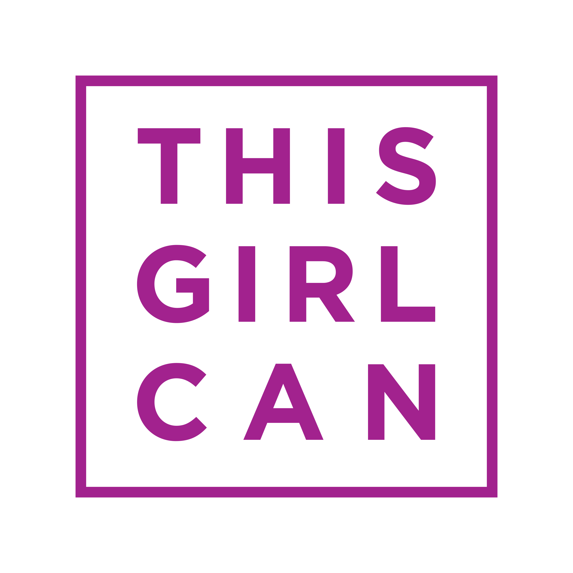 This Girl Can Logo PMS 248